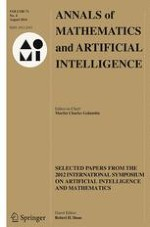 Annals of Mathematics and Artificial Intelligence 4/2014