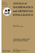 Annals of Mathematics and Artificial Intelligence 1-2/2015