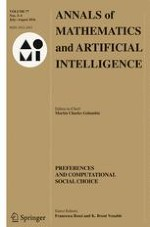 Annals of Mathematics and Artificial Intelligence 3-4/2016