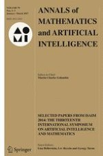 Annals of Mathematics and Artificial Intelligence 1-3/2017