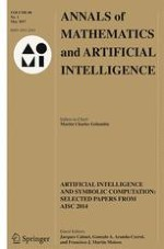 Annals of Mathematics and Artificial Intelligence 1/2017
