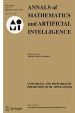 Annals of Mathematics and Artificial Intelligence 1-2/2017
