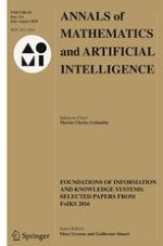 Annals of Mathematics and Artificial Intelligence 3-4/2018