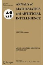 Annals of Mathematics and Artificial Intelligence 1-2/2018
