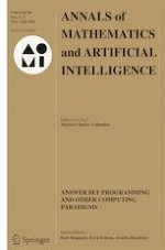 Annals of Mathematics and Artificial Intelligence 1-3/2019