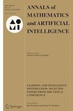 Annals of Mathematics and Artificial Intelligence 1-3/2020