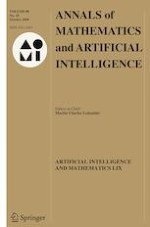 Annals of Mathematics and Artificial Intelligence 10/2020