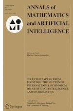 Annals of Mathematics and Artificial Intelligence 7/2020