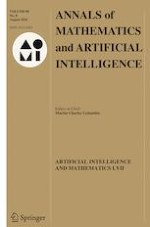 Annals of Mathematics and Artificial Intelligence 8/2020