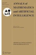 Annals of Mathematics and Artificial Intelligence 3-4/2021