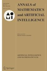 Annals of Mathematics and Artificial Intelligence 5-6/2021