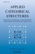 Applied Categorical Structures 1/2011