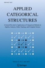 Applied Categorical Structures 3/2015