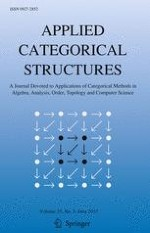 Applied Categorical Structures 3/2017