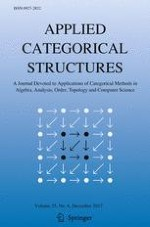 Applied Categorical Structures 6/2017