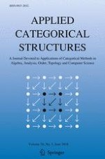 Applied Categorical Structures 3/2018