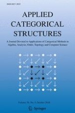 Applied Categorical Structures 5/2018