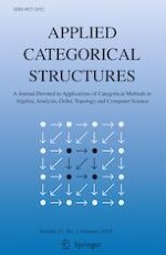Applied Categorical Structures 1/2019