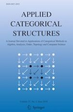 Applied Categorical Structures 3/2019