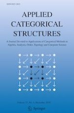 Applied Categorical Structures 6/2019