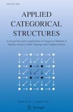 Applied Categorical Structures 1/2020