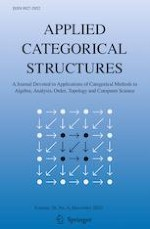Applied Categorical Structures 6/2020