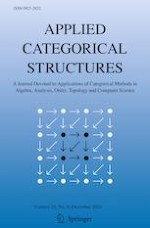 Applied Categorical Structures 6/2021