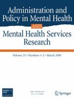 Administration and Policy in Mental Health and Mental Health Services Research 1-2/2008