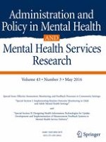 Administration and Policy in Mental Health and Mental Health Services Research 3/2016
