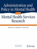 Administration and Policy in Mental Health and Mental Health Services Research 4/2016