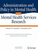 Administration and Policy in Mental Health and Mental Health Services Research 6/2016