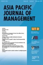 Asia Pacific Journal of Management 4/2009