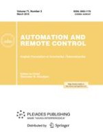 Automation and Remote Control 3/2010