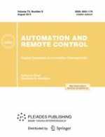 Automation and Remote Control 8/2012