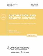 Automation and Remote Control 2/2013