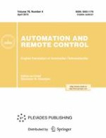 Automation and Remote Control 4/2015