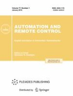 Automation and Remote Control 1/2016