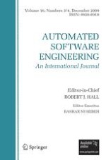 Automated Software Engineering 3-4/2009