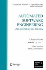 Automated Software Engineering 3/2012