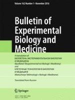 Bulletin of Experimental Biology and Medicine 1/2016