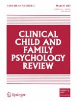 Clinical Child and Family Psychology Review 1/2007