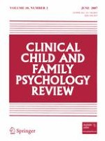 Clinical Child and Family Psychology Review 2/2007