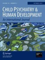 Child Psychiatry & Human Development 1/2001