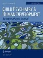 Child Psychiatry & Human Development 1/2014