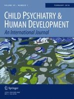 Child Psychiatry & Human Development 1/2018