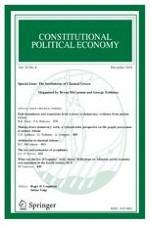 Constitutional Political Economy 4/2018