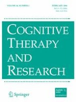 Cognitive Therapy and Research 1/2006