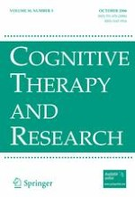 Cognitive Therapy and Research 5/2006