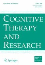 Cognitive Therapy and Research 2/2007