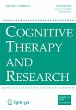 Cognitive Therapy and Research 5/2007